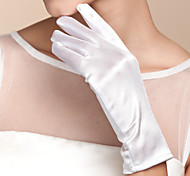 cheap -Satin Wrist Length Glove Bridal Gloves Classical Feminine Style