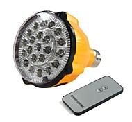 E27 4W LED blanco Luz de emergencia recargable Spotlight Linterna con mando a distancia