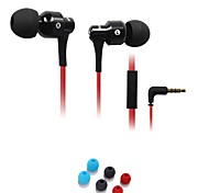 Fashion AWei ES-500i  3.5mm Plug In-Ear Aluminum Alloy Super Bass  Microphone Earphones-Black