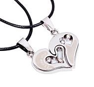 cheap -Men's Women's Geometric Heart Personalized Geometric Unique Design Dangling Style Classic Love Heart Friendship Fashion Punk Hip-Hop Rock