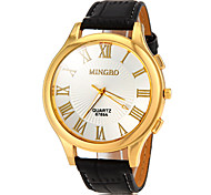cheap -Men's Wrist watch Quartz Hot Sale PU Band Charm Black Brown