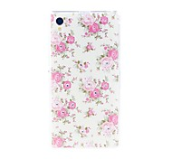Kinston Blossoming Flower Diamond Paste Pattern TPU Soft Case for Sony Xperia Z1 L39h