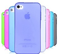 TPU Dust Proof Soft Case for iPhone 4/4S (Assorted Colors)