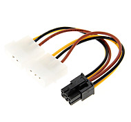 cheap -4 Pin Molex to 6 Pin PCI-E Power Adapter (12cm)