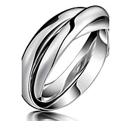 Women's Couple Rings Costume Jewelry Titanium Steel Jewelry For Party Daily Casual