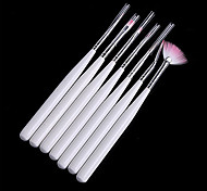 7PCS Nail Art Painting Drawing Pen Brush Handle Kits