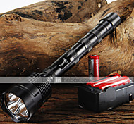 Trustfire LED Flashlights / Torch LED 3800/3000 lm 5 Mode Cree XM-L T6 with Batteries and Charger Adjustable Focus Nonslip grip