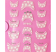cheap -1 French Tips Guide Lace Sticker 3D Nail Stickers Abstract Fashion High Quality Daily
