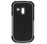 2-in-1 Design Hexagon Pattern Hard Case with Silicone Inside Cover  for Samsung Galaxy S3 Mini  i8190