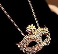 Недорогие -Жен. Лиса Животный принт форма Камни по месяцу рождения Ожерелья с подвесками Стразы Искусственный бриллиант Сплав Ожерелья с подвесками