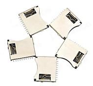 TF микро-SD карты памяти держатель - серебро + черный (5 шт)
