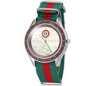 Men's Colorful Fabric Band Quartz Wrist Watch (Assorted Colors) Cool Watch Unique Watch