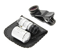 Cell Phone Clip and 60 Times Magnifying Lens in Set