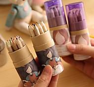Cartoon Girl Pattern 12 Color Painting Pencil(12 PCS/Set)