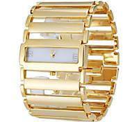 Недорогие -Женские Часы-браслет Повседневные часы Японский кварц Кварцевый Группа Элегантные часы Люкс Серебристый металл Золотистый