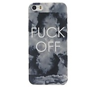 For iPhone 7 Plus FUCK OFF Pattern  PC Hard Protective Case for iPhone 5/5S