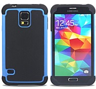 cheap -For Samsung Galaxy Case Shockproof Case Back Cover Case Armor PC Samsung S5