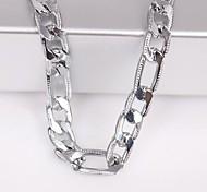 унисекс 6мм серебряная цепочка ожерелье №115 ювелирные подарки