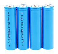 18650 Batteries Rechargeable Lithium-ion Battery 5000 mAh 4pcs Rechargeable for Camping/Hiking/Caving