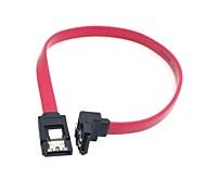 sata cable de extensión 7pin con pestillo de bloqueo y enchufe en ángulo de 90 grados para el disco duro 0.3m 1ft