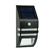 Недорогие -2-LED теплый белый нержавеющей стали солнечный свет стены с PIR датчик движения