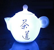 cheap -Coway The Teapot of Seven Color LED Nightlight Chinese Tea Art