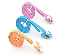 Micro USB Noodles Flat Sync USB Data Cable For Samsung Galaxy and Others(Assorted Color)