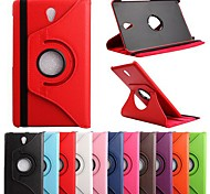 cheap -Case For Tab S 8.4 Samsung Galaxy Samsung Galaxy Case with Stand Flip 360° Rotation Full Body Cases Solid Color PU Leather for