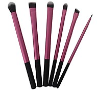 6pcs Red Cosmetic Makeup Brush Basic Professional Kit Cosmetic Beauty Care Makeup for Face