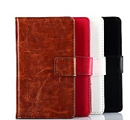 Pour Coque Nokia Portefeuille / Porte Carte / Avec Support Coque Coque Intégrale Coque Couleur Pleine Dur Cuir PU Nokia Nokia Lumia 520
