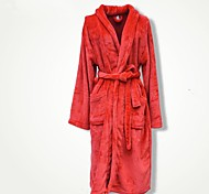 Fresh Style Bath Robe,Solid Superior Quality 100% Coral Fleece Towel