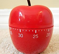 """Red Apple Shaped Mechanical Kitchen Timer , Plastic 2.4""""X2.4""""X4.12"""""""