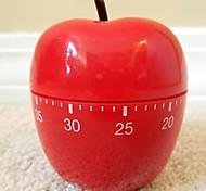 """В виде красного яблока механический кухонный таймер, Пластиковые 2.4 """"X2.4"""" X4.12 """""""