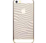 Für iPhone 5 Hülle Transparent / Muster Hülle Rückseitenabdeckung Hülle Linien / Wellen Hart PC iPhone SE/5s/5
