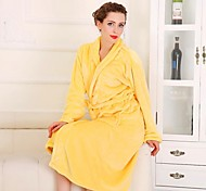 Bath Robe Yellow,Solid High Quality 100% Coral Fleece Towel