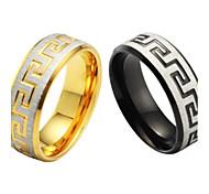 Singolo anello uomini grano e titanio acciaio di alta qualità FINE