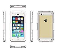 preiswerte -Hülle Für Apple iPhone 6 iPhone 6 Plus Wasserfest Transparent Handytasche Volltonfarbe Weich PC für iPhone 7 Plus iPhone 7 iPhone 6s Plus