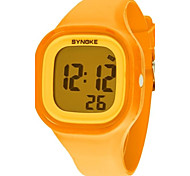 Women's Dress Watch Fashion Watch Digital Watch Wrist watch Quartz Digital Silicone Band Orange Strap Watch