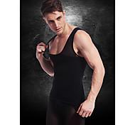 мужчины похудения тела нижнего белья жилет талии пальто рубашка фирма животик живот грудь нейлоновые черные ny027