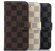 For iPhone 8 iPhone 8 Plus iPhone 6 iPhone 6 Plus Case Cover with Stand Full Body Case Geometric Pattern Hard PU Leather for iPhone 8