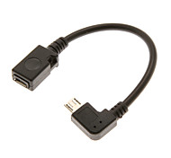 0.1M 0.328FT Micro USB 2.0 Male to Micro USB2.0 Female OTG Cable