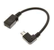 Недорогие -0.1m 0.328ft Micro USB 2.0 мужчина к Micro USB 2.0 OTG кабель женщина
