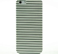 iphone 7, além do preto& caso difícil listras branca padrão para iPhone 5 / 5s