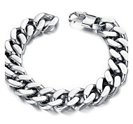 cheap -Men's Chain Bracelet - Stainless Steel Unique Design, Simple Style, Fashion Bracelet Silver For Christmas Gifts / Daily