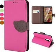 Pour Coque LG Porte Carte Portefeuille Avec Support Clapet Coque Coque Intégrale Coque Couleur Pleine Dur Cuir PU pour LG
