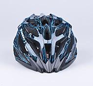 Луна 27 жерла PC + EPS интегрально-литой черный и синий велосипедный шлем (56-62cm)