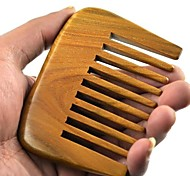 Natual большое расстояние зуба гребенки 9x6.7cm Бразилия зеленый сандал деревянный гребень здоровья гребень