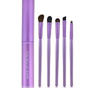Make-up For You® 5pcs Makeup Brushes set Pony/Horse Hair  Limits bacteria Purple Makeup Kit Cosmetic Brushes Tool set
