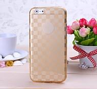 capa macia do tpu do teste padrão da grade do ouro para capas iphone iphone 6 / 6s