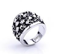 Недорогие -персональный подарок модный череп ювелирные изделия из нержавеющей стали в форме выгравирована мужская кольцо